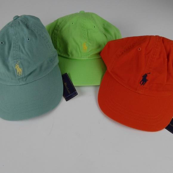 107c5cc1104ee Polo Ralph Lauren Adjustable Cotton Hats Caps NWT